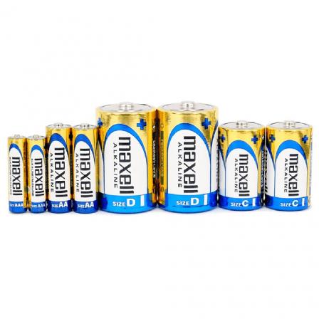 Maxell AA size 1.5V Alkaline Batteries 4pcs card - LR6(GD)4B